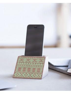 Soporte para teléfonos móvil de madera
